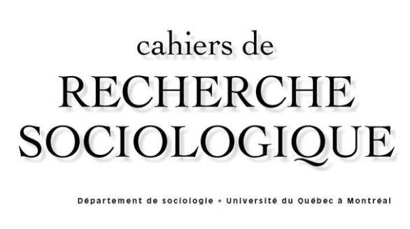 Cahiers de recherche sociologique
