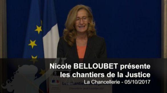 Nicole Belloubet présente les chantiers de la Justice