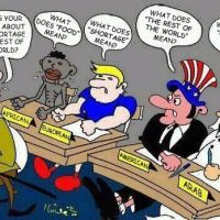 World politics- cartoon