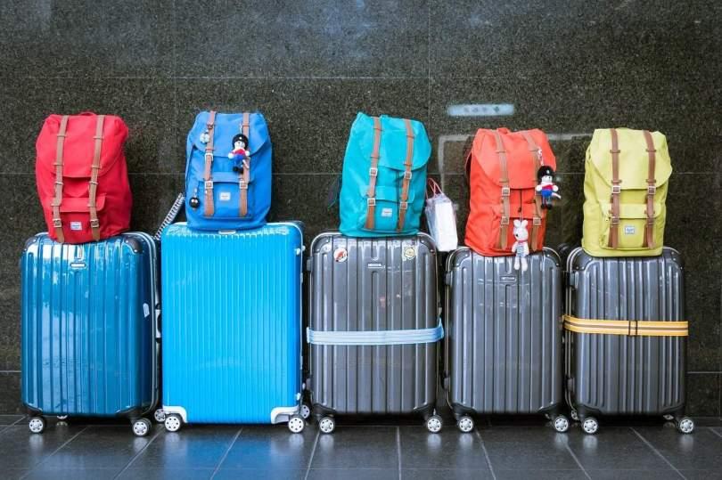 Foto de malas de viagem.