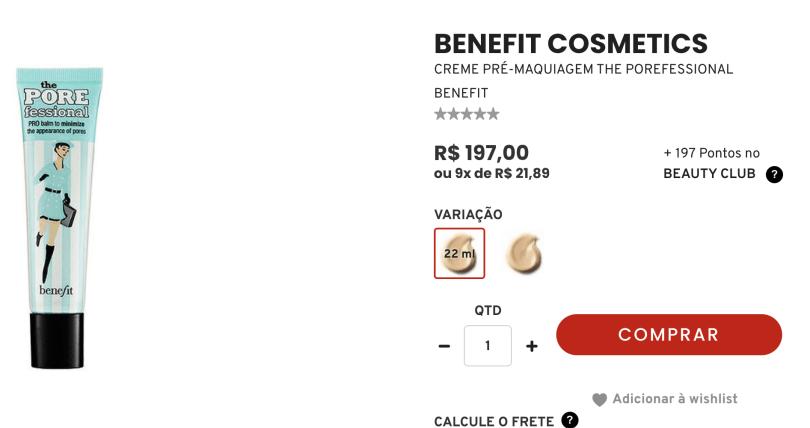 Foto de primer no Brasil com preço de R$ 197