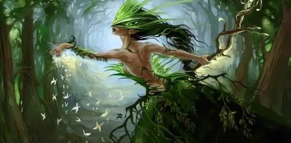 nature et elfe