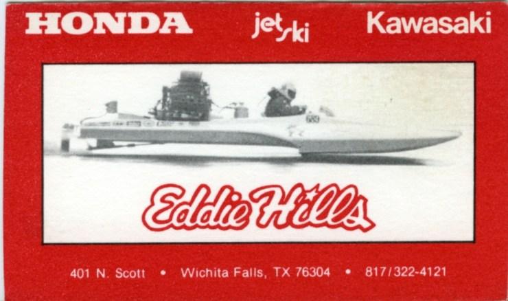 Eddie Hill Business Card