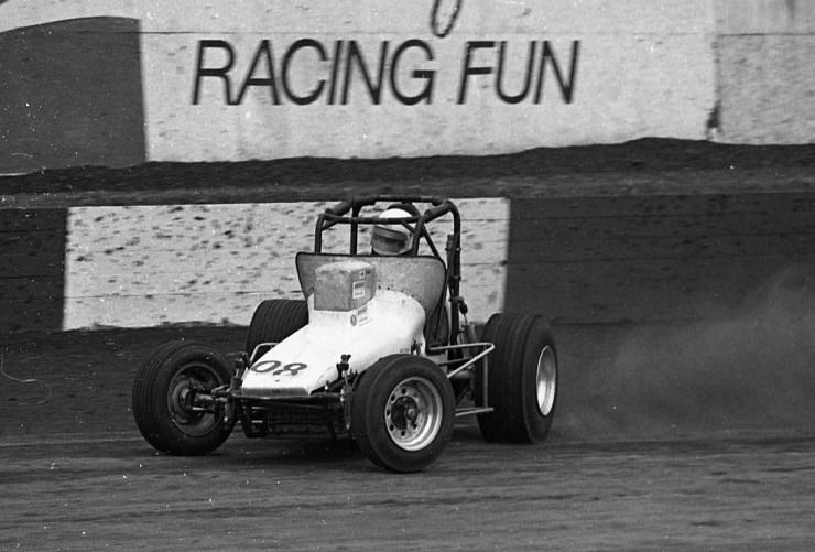 Drag racing on the sand