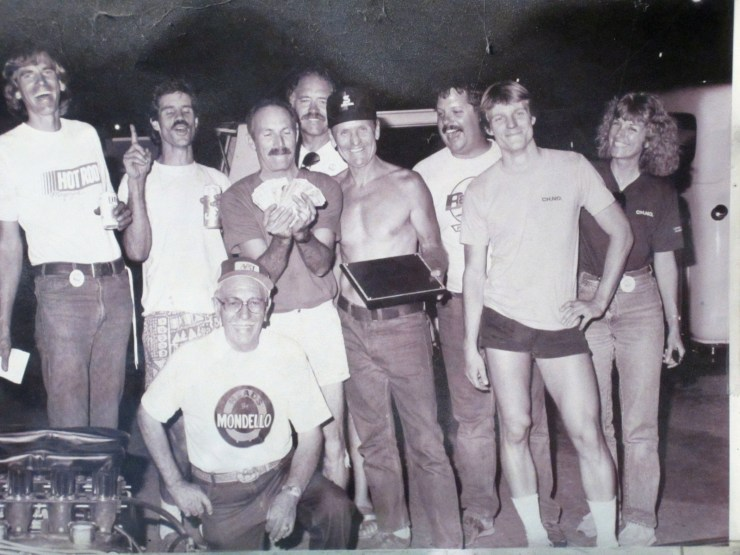 Fuel and Gas Championship at Bakersfield with Pat Ganahl, Gene Adams, Don Garlits, Anna Ganahl