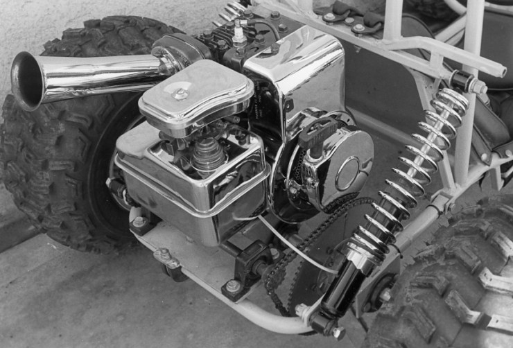 5-hp Briggs & Stratton engine for Bill and Pat Ganahl's 1985 VW Bug go-kart