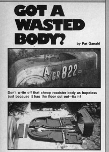 Got a Wasted Body? Article in Street Rodder by Pat Ganahl