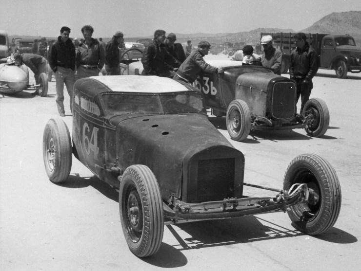 Dry lakes hot rod racing Jim Woods