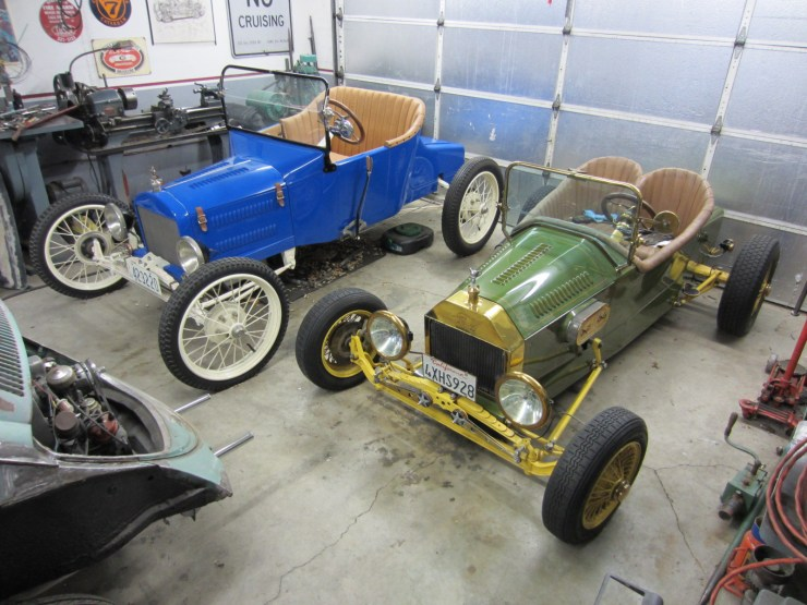 Bill West's Mini-T speedster and '23 T roadster