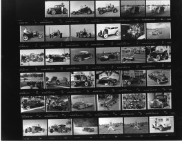 Proof sheet of hot rod photos