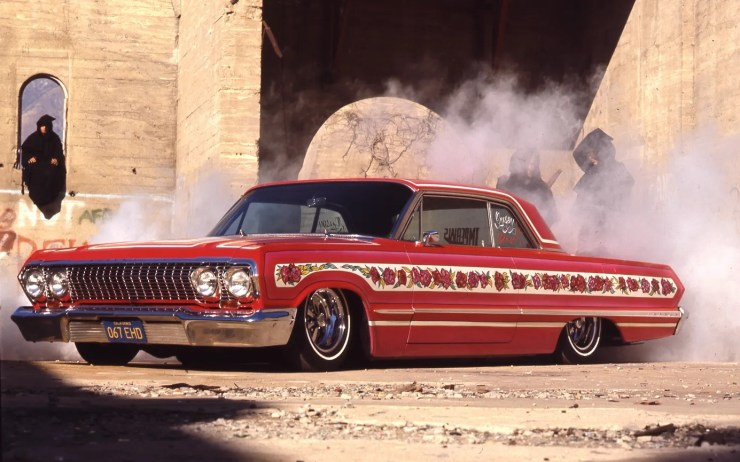 Jesse Valadez' '63 Impala Gypsy Rose painted by Walt Prey