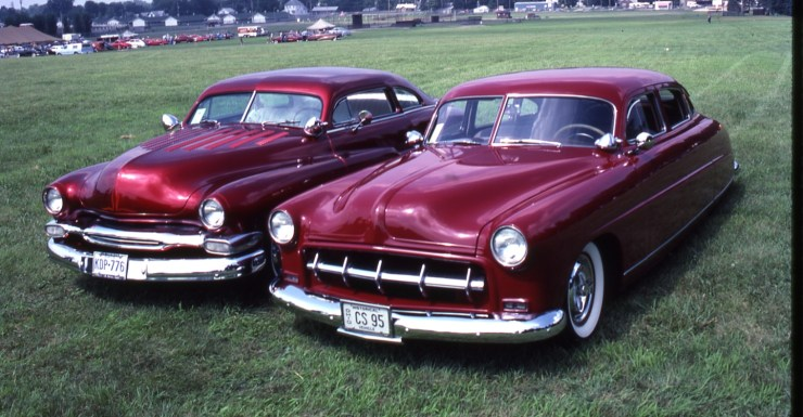 Chopped Merc and custom '53 Hudson