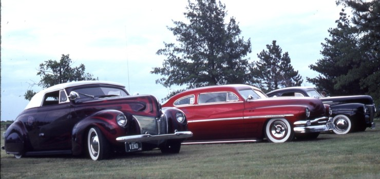 Bob Johnson's custom '40 Carson-topped Merc and chopped '50