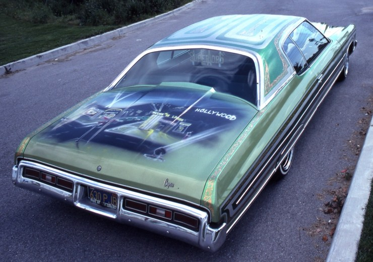 Lowrider with airbrush mural