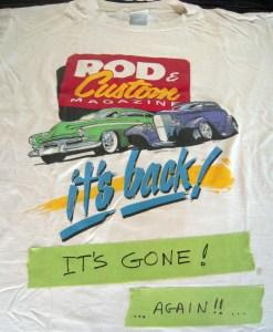 Rod and Custom T-shirt