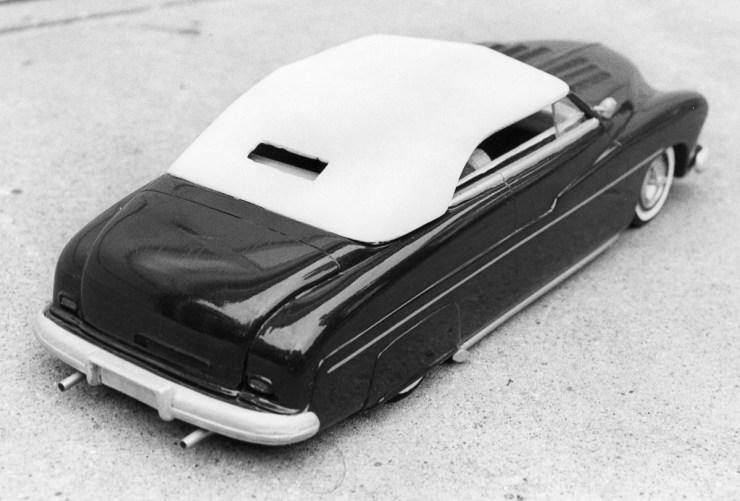 Miles Masa's chopped Mercury model car