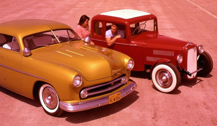 Ron Coleman's and his wife's channeled Deuce coupe and chopped '50 Ford custom