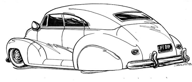 Mark Balfe Custom car drawing