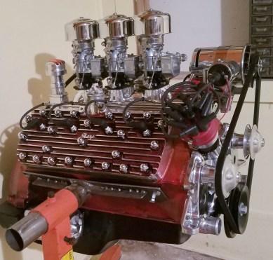 3 carb flathead engine