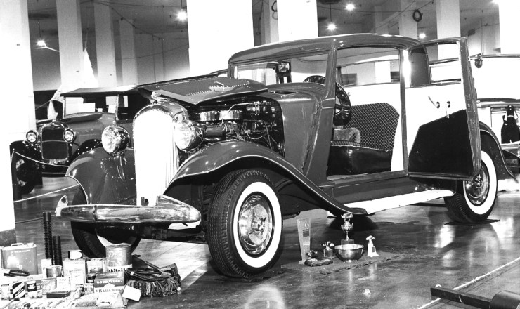 Jerry Montgomery's '32 Plymouth coupe