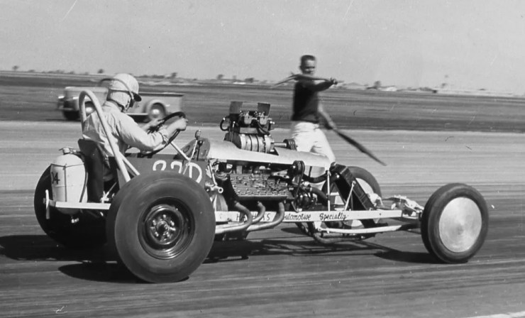 Ernie Hashim's early dragster