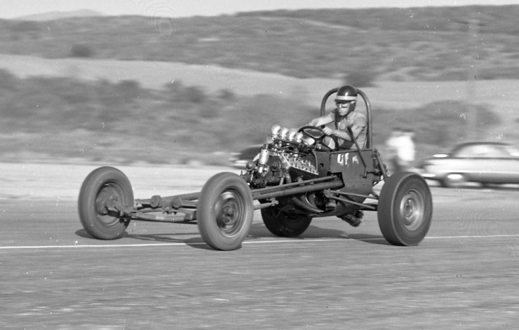 Bob Rounthwaite's early dragster