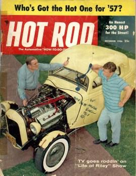 Hot Rod Magazine cover December 1956