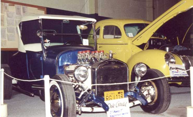 Dale Gould's '27 T roadster and Rich Woodford's '40 coupe