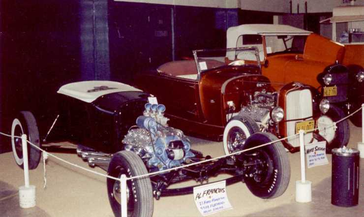 Al Friend's '27 T and Mike Suchia's '29 highboy roadster