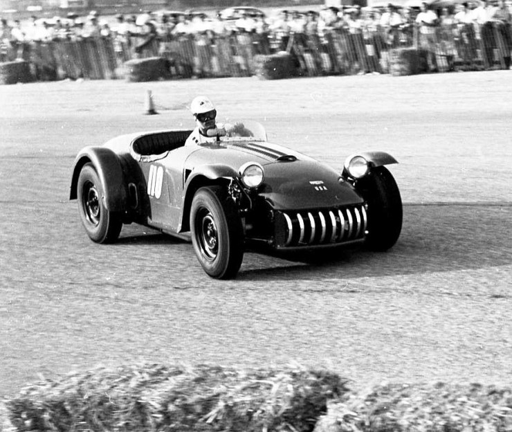 Bill Stroppe at Terminal Island Road Races Jan. '54