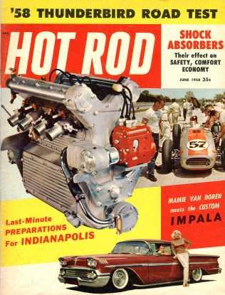 Hot Rod Magazine June 1958 cover