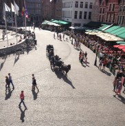 View of the Markt from the Duvelorium Grand Beer Café