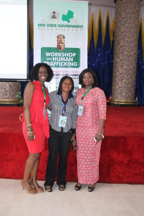 With Dr. Joe Odumakin and SA Hon. Abike Dabiri-Erewa