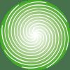 Espiral verde único