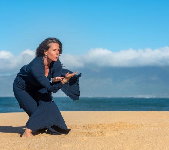 Taller en línea de baile consciente azul Miedo y confianza