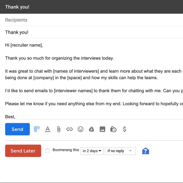 How to write a good follow up email after the interview (with