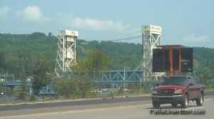 The Lift Bridge on the day it was jammed.