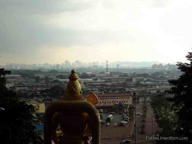 View of the city from the Temple Cave.