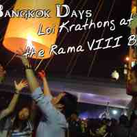 The Bangkok Days:  Loi Krathong at the Rama VIII Bridge