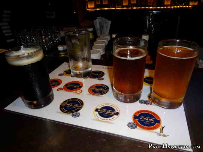 The Brewerkz beer sampler.