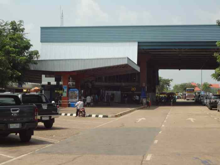 Thailand's border exit at Nong Khai.