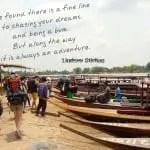 Monday Travel Quote:  A Fine Line