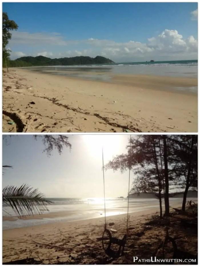 Shots of Ao Yai beach from Bamboo Bungalows.
