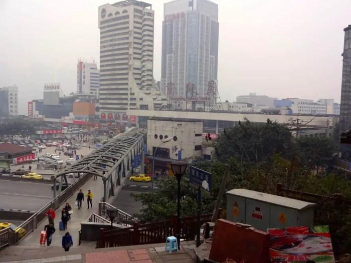The train station below Lianglukou.