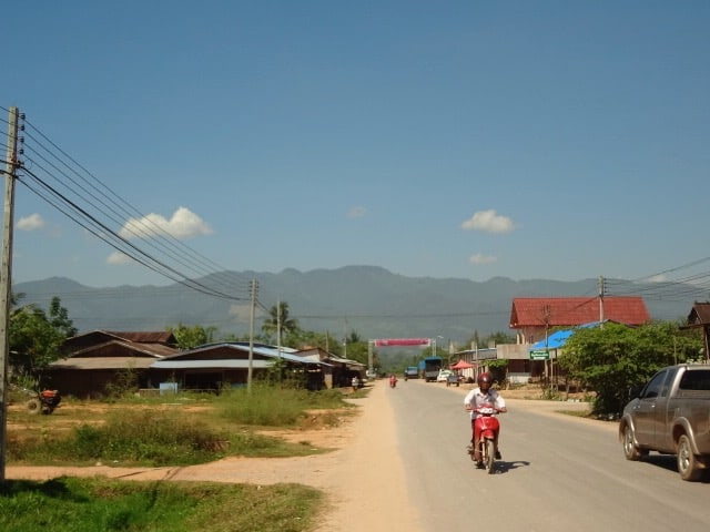 Muang sing road on a sunny day.