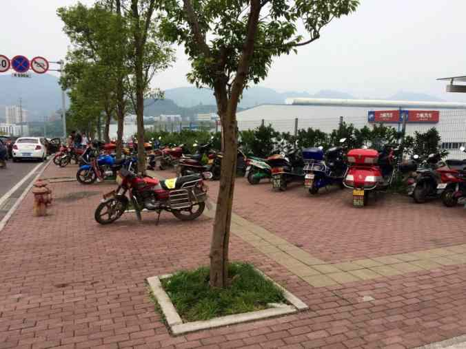 The motorbike-laden Xiangjiagang Station, our way home.