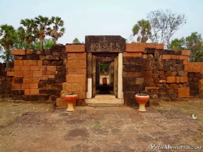 The gopura, main entrance of a Khmer temple.
