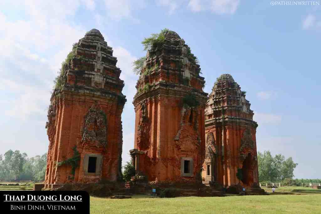 Though reminiscent of Angkor, the Champa towers represent a completely different civilization.