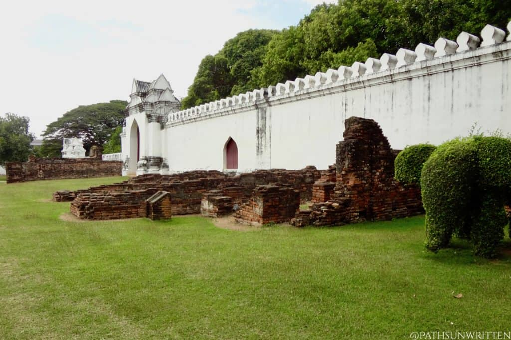 The remains of the elephant stables.