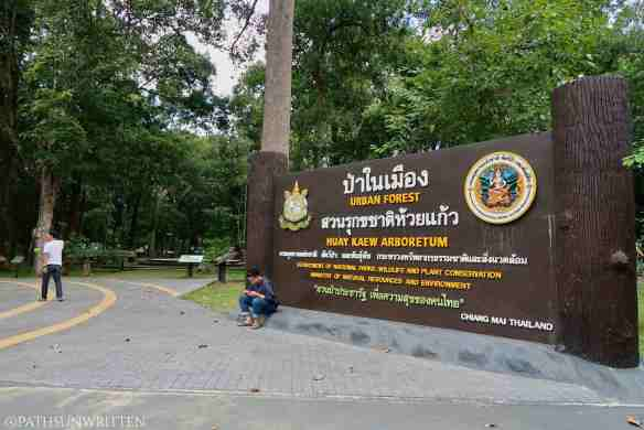The entrance to Huay Kaew Arboretum.